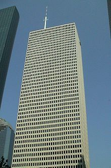 One Shell Plaza -Modernism architectural located 910 Louisiana Street completed 1971.  Built by Skidmore, Owings & Merrill.