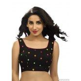 black-georgette-ready-made-blouse-with-mirror-work