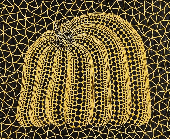 Yayoi Kusama (Japanese, b.1929). Pumpkin, 2002. Acrylic on canvas.