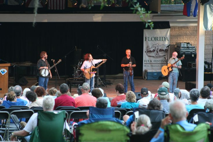 Find concerts at several stages during the Florida Folk Festival.