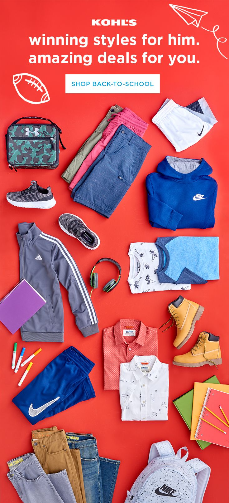 573e1905748 Do you have all his back-to-school style faves  Update his fall look with  style essentials like activewear
