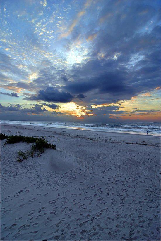 Sunrise on Bald Head Island in Brunswick County, North Carolina
