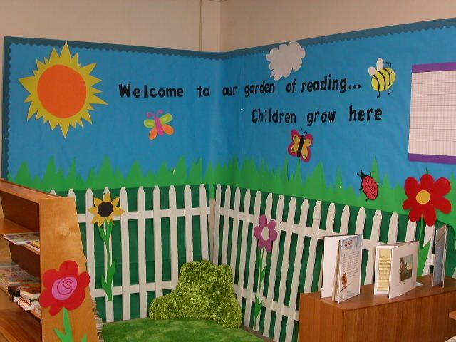 "This is beautiful! To use it in any learning environment, it could also say ""Welcome to our garden of learning...children grow here!"