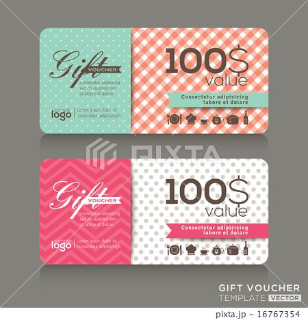 gift voucher certificate coupon design template