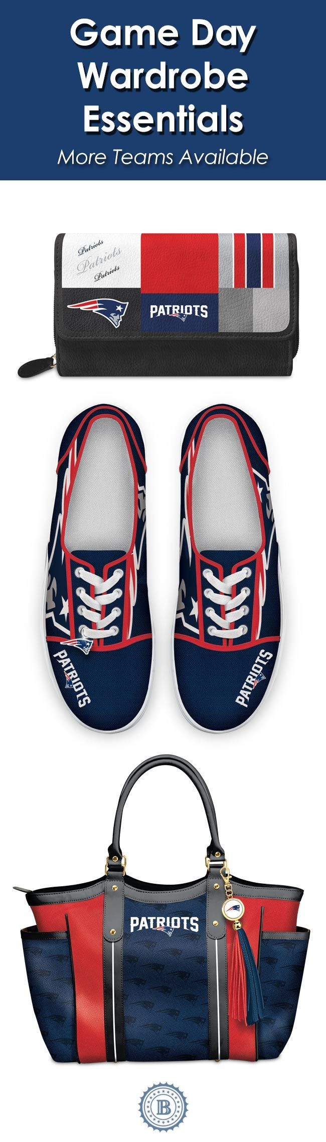 Sport your Patriots passion with our officially-licensed NFL apparel and accessories. We offer winning selections of wardrobe essentials so you can show off your stylish Patriots loyalty on the field, on the couch or on the go.