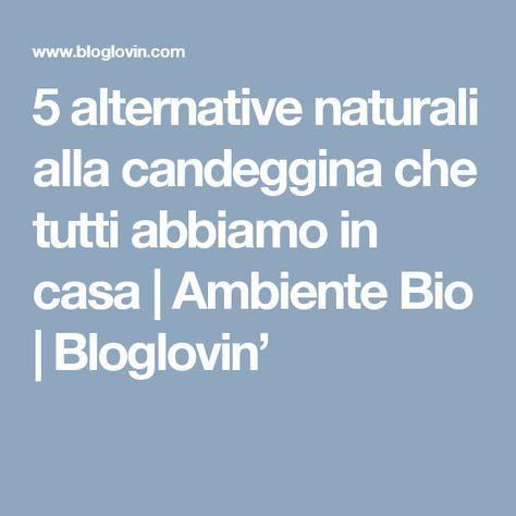 5 alternative naturali alla candeggina che tutti abbiamo in casa | Ambiente Bio | Bloglovin'