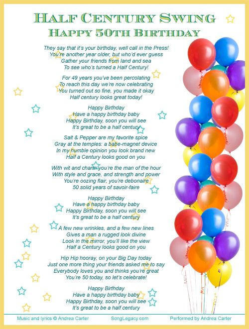 birthday wishes for guys | ... celebrate a man s 50th birthday half century swing happy 50th birthday