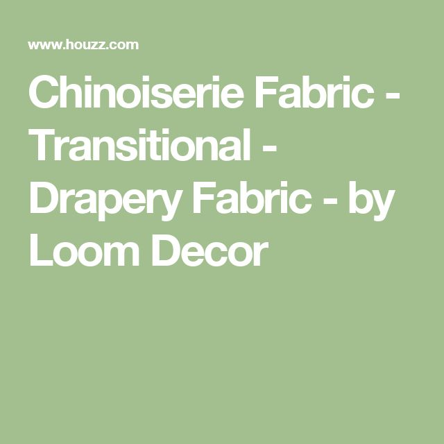 Chinoiserie Fabric - Transitional - Drapery Fabric - by Loom Decor