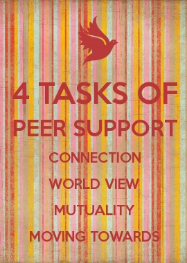 4 TASKS OF PEER SUPPORT Connection, World View, Mutuality, Moving Towards