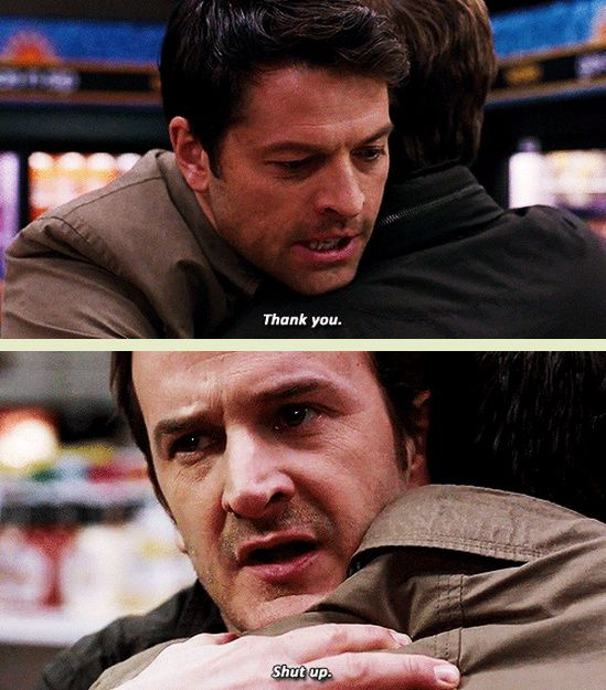 [GIFSET] 9x18 Meta Fiction, I was so excited when I saw Gabriel!! Not gonna lie there was a lot of high- pitched screaming and flailing. And then it wasn't really him but it was still awesome.