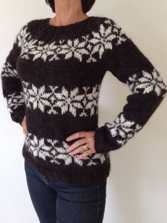 Sarah Lund sweater handmade from pure Icelandic wool. For sale - made to order from www.frustrik.dk or etsy.com