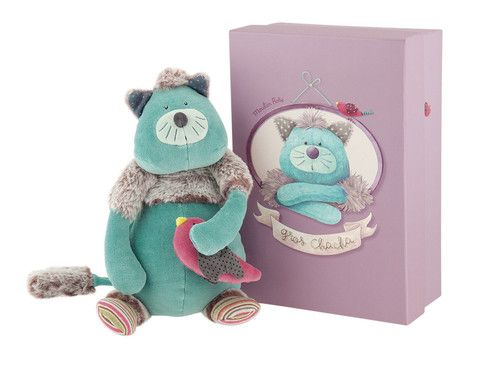 Tiny Chacha Doll Moulin Roty Les Pachats (Blue cat doll) – Bonjour Petit