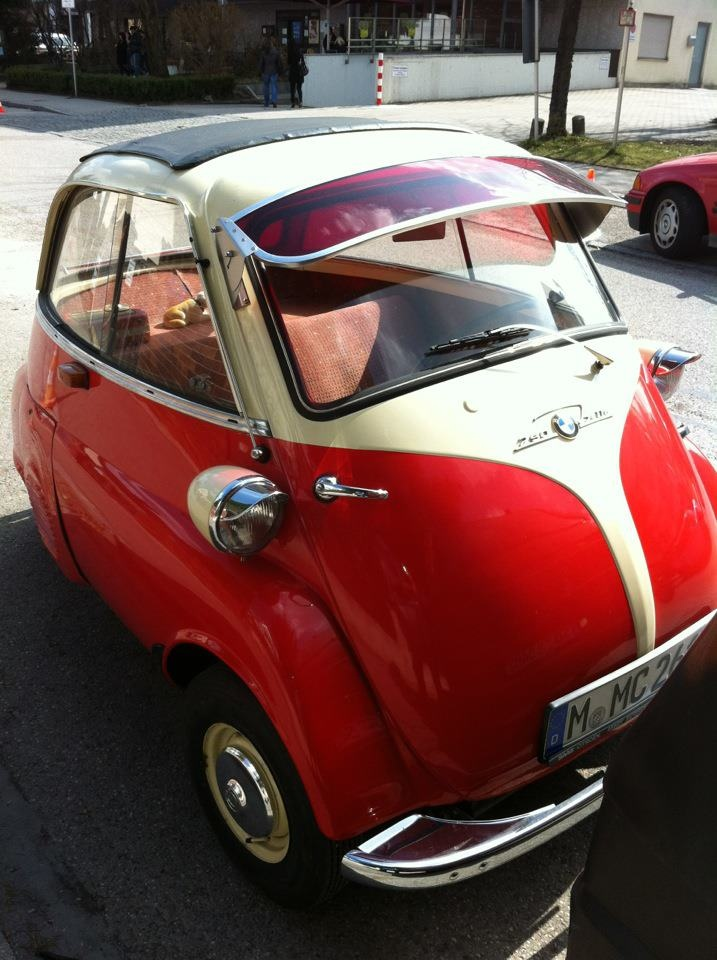 1957 BMW Isetta 250 a true micro-car for the city.