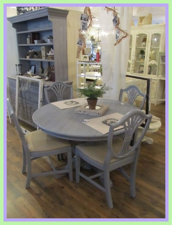 Upcycled Table And Chairs In Grey And White Dining Table Chairs Dining Table Makeover Table And Chairs