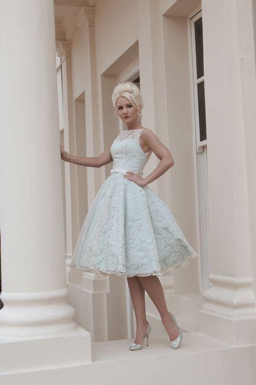 Elle Wedding Dress by House of Mooski (http://www.houseofmooshki.com/our-dresses/elle/).  Short dress for dancing?