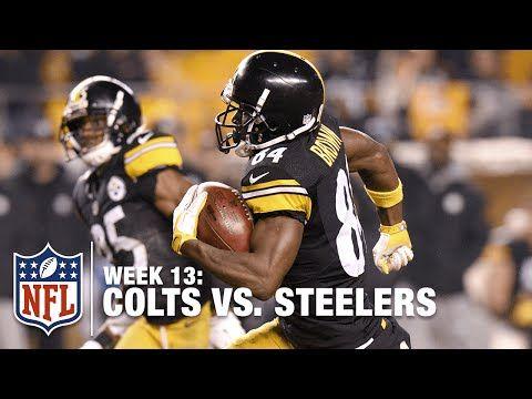 Antonio Brown's Amazing Punt Return TD & Hilarious Goal Post Celebration! | Colts vs. Steelers | NFL - YouTube