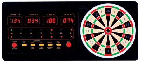 Arachnid 4 Player Touch Pad Dart Scorer by Arachnid. $69.99. Amazon.com                Combining the fun of playing darts on a traditional bristle board with the scoring simplicity of an electronic board, this touch pad dart scorer is a must for any basement rec room. The unit is easy to use: Simply touch the segment where your dart hit, and the device automatically calculates your score for one of 24 game types, including Count Up, Count Down, 301 League, Round the Clock, All...