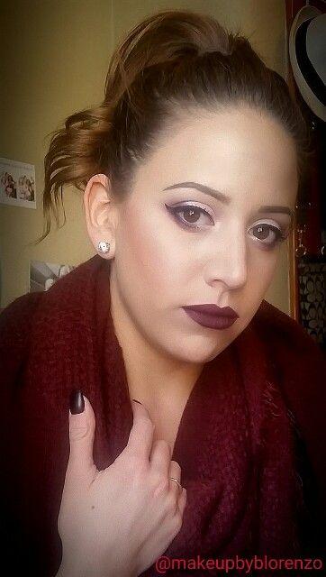 Holiday Look with Dark Lips  Instagram @makeupbyblorenzo