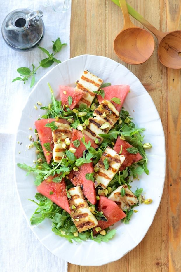 Grilled Haloumi & Watermelon | Camille Styles