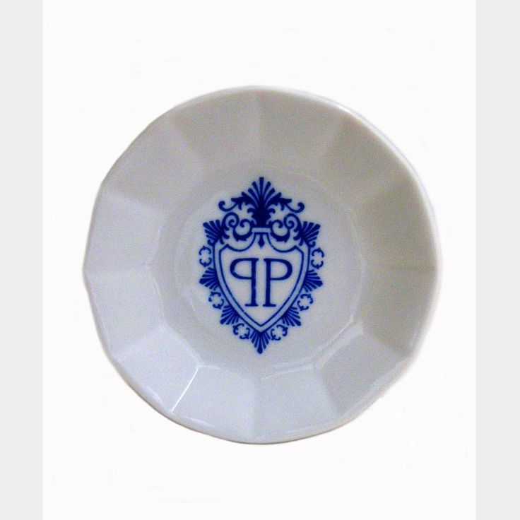 THE PLAZA HOTEL New York Ashtray Porcelain Blue Crest Logo