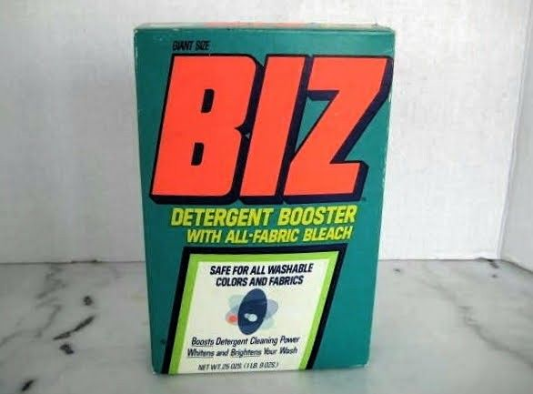 Biz Detergent Booster With Bleach Box Late 70s Early 1980s