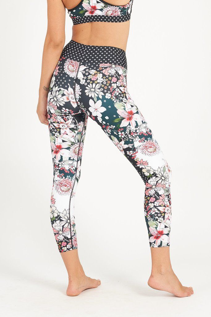 702e6a26bba8b Secret Garden High Waist Printed Legging - 7/8 | Women's Yoga and  Activewear Clothing