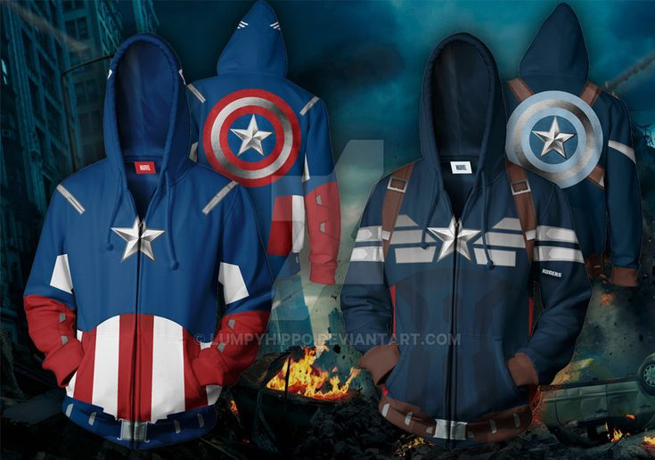 Captain America Hoodies by lumpyhippo.deviantart.com on @DeviantArt