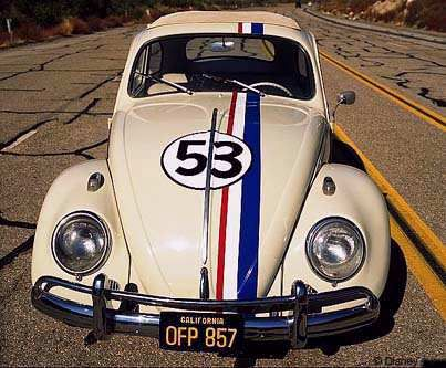 """""""Herbie is an anthropomorphic Volkswagen Beetle. He has a mind of his own and is capable of driving himself."""" I love Herbie."""