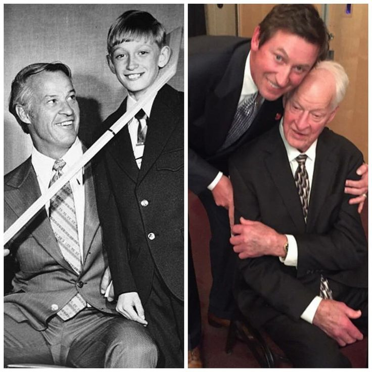 Gordie Howe & Wayne Gretzky- then and now