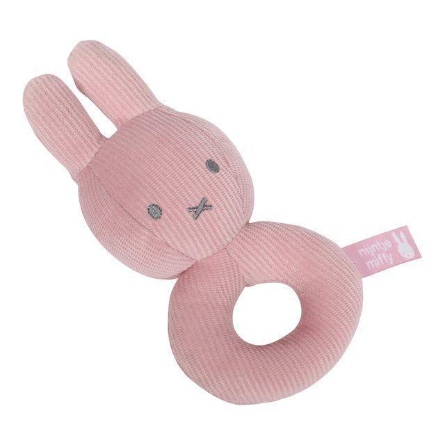 Miffy Bunny Babyrassel Greifen 39 Cord 39 Antik Pink 16cm Baby Babyzimmer Rassel