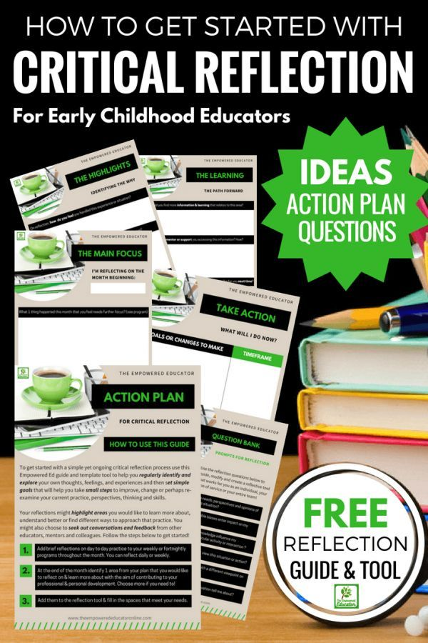 Stop Overthinking Critical Reflection And Just Get Started Using These Simple Explanations Tips Question Promp Family Day Care Early Childhood Early Learning