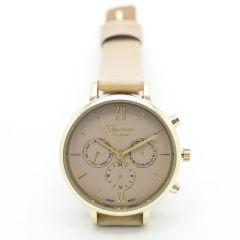 Zegarek beżowy nowoczesny stylowy kobiecy