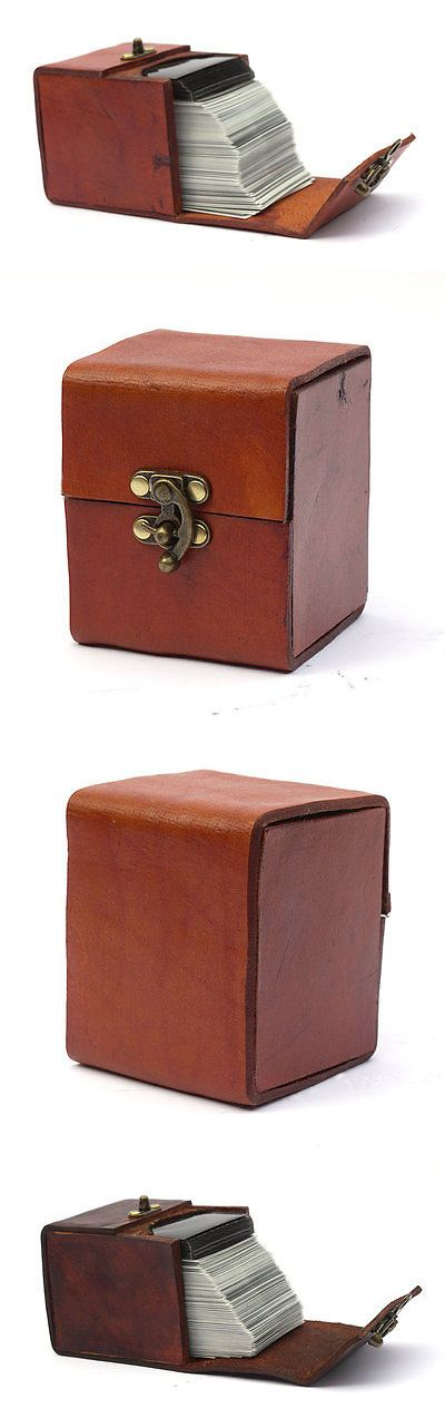 Other MTG Items 218: Magic The Gathering Leather Deck Box Holds 100 Sleeved Cards For Edh Commander -> BUY IT NOW ONLY: $34.95 on eBay!