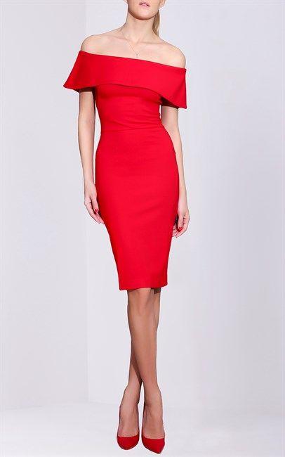 Isabel Garcia Off The Shoulder Dress Red
