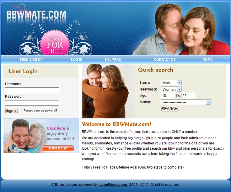 wittman bbw dating site Free bbw dating sites - looking for relationship just create a profile, check out your matches, chat with them and then arrange to meet for a date.