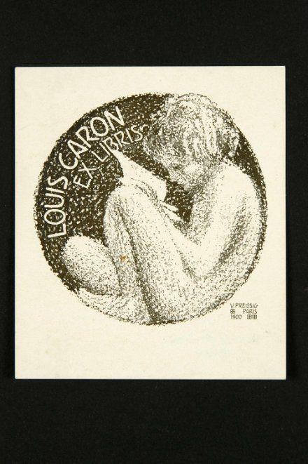 Ex libris Louis Caron by Vojtěch Preissig, 1900. www.esbirky.cz, CC0