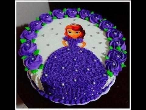 Como decorar un bizcocho (pastel) y cupcakes fácil con flores de frosting de colores - YouTube