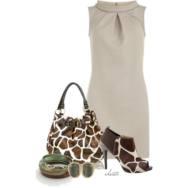 """Giraffe Combo"" by christa72 on Polyvore"