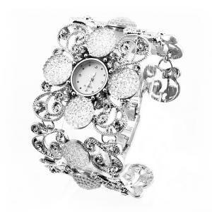 Damen luxus Silber Juwel Uhr Armbanduhr