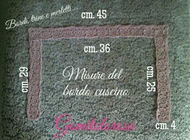 Misure dei bordo per cuscino culla...in rosa