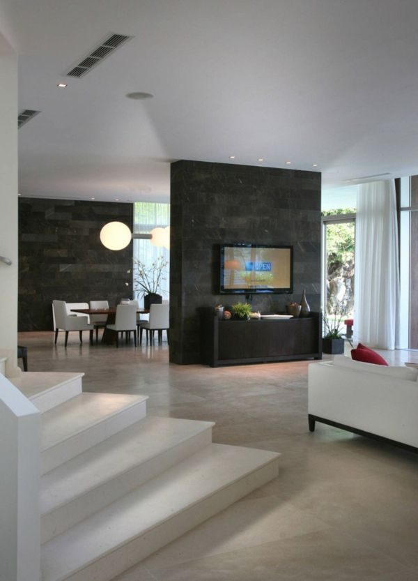 Interior design of the waterfront house