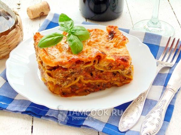 Лазанья + овощи+сыр +соус бешамель