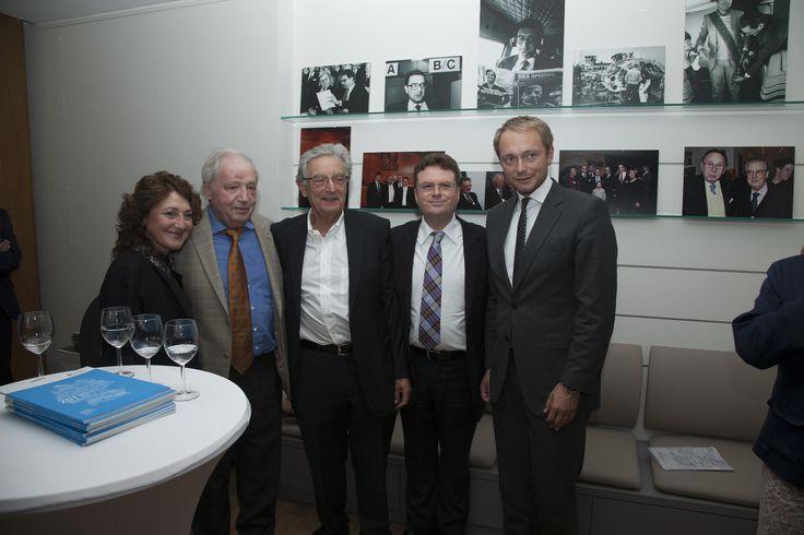 Frau Weber, Günther Weber (Hrsg. Verlag Markt Intern), Gerhart Baum, Prof. Dr. Julius Reiter, Christian Lindner