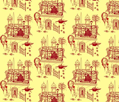 The Girl Who Knew Too Much fabric by emanuelletomato on Spoonflower - custom fabric