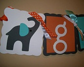 Elephant Baby Name Banner. Coral and turquoise for baby Camden!