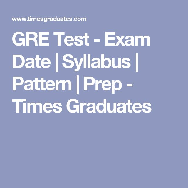 GRE Test - Exam Date | Syllabus | Pattern | Prep - Times Graduates