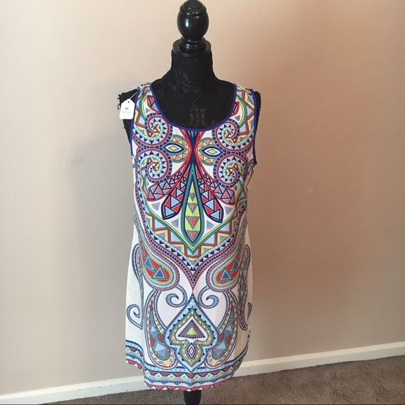 NWT Aztec Print Dress This never been worn with tags lightweight and colorful dress is perfect for the summer time! Dresses