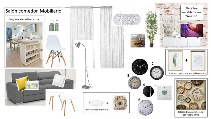 Detalles para la decoración del salón. Proyecto Home Staging. Shopping list.