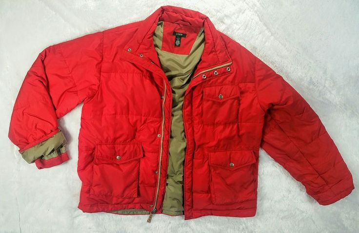 J Crew Mens Down Feather Orange Puffy Quilted Winter Jacket Coat Size Large | Clothing, Shoes & Accessories, Men's Clothing, Coats & Jackets | eBay!