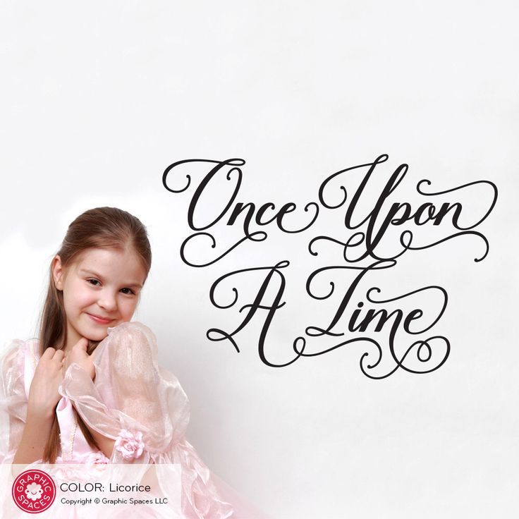 Once Upon A Time Wall Decal Fairy Tale Script Type Princess Wall Quote Decal by graphicspaces on Etsy https://www.etsy.com/listing/461992509/once-upon-a-time-wall-decal-fairy-tale
